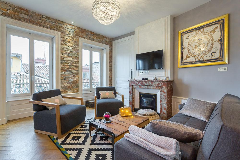 Vieux lyon 10 rue Mourguet salon